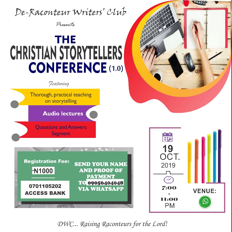 THE CHRISTIAN STORYTELLERS CONFERENCE 1.0 BY DE-RACONTEUR